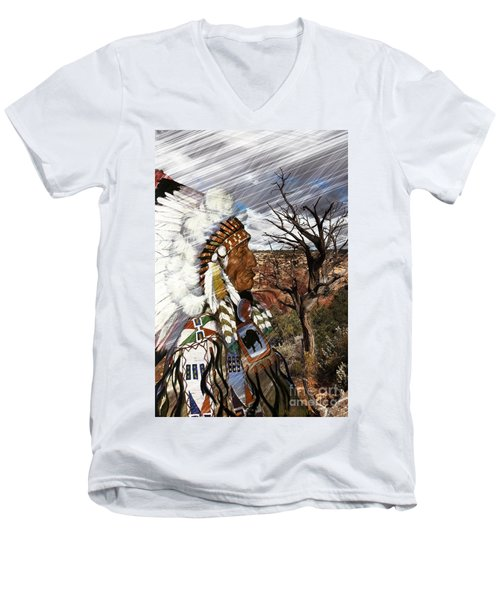 Sw Indian Men's V-Neck T-Shirt