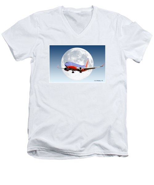 Sw Moon Men's V-Neck T-Shirt by Brian Wallace
