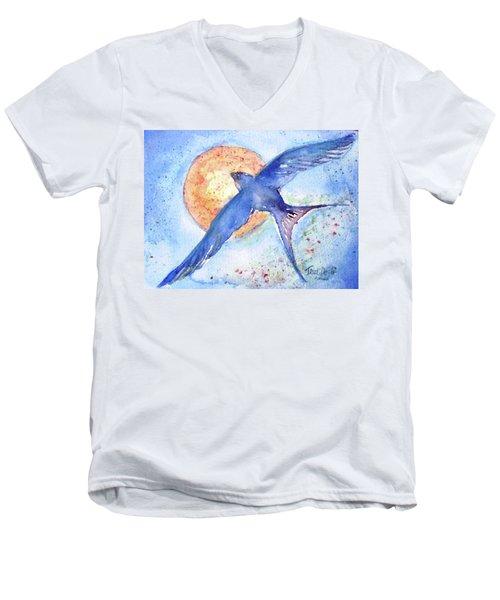 Swallows Return  Men's V-Neck T-Shirt by Trudi Doyle