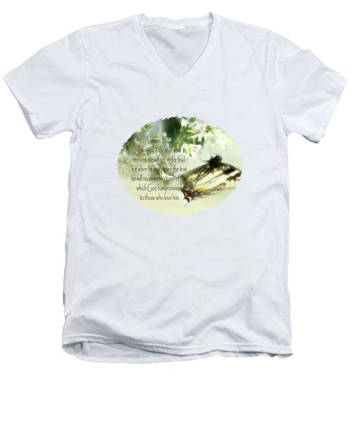 Swallowtail And Lilac Men's V-Neck T-Shirt