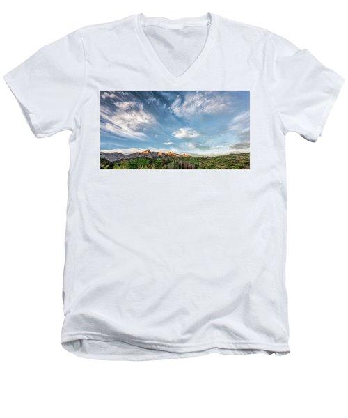 Sweeping Clouds Men's V-Neck T-Shirt by Jon Glaser
