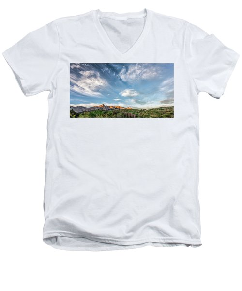 Sweeping Clouds Men's V-Neck T-Shirt