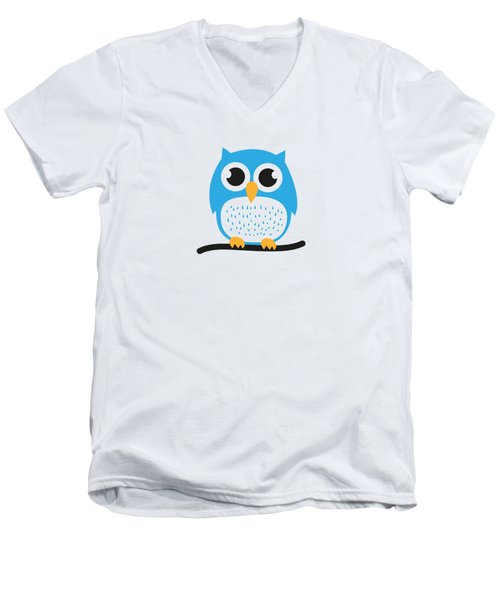 Sweet And Cute Owl Men's V-Neck T-Shirt