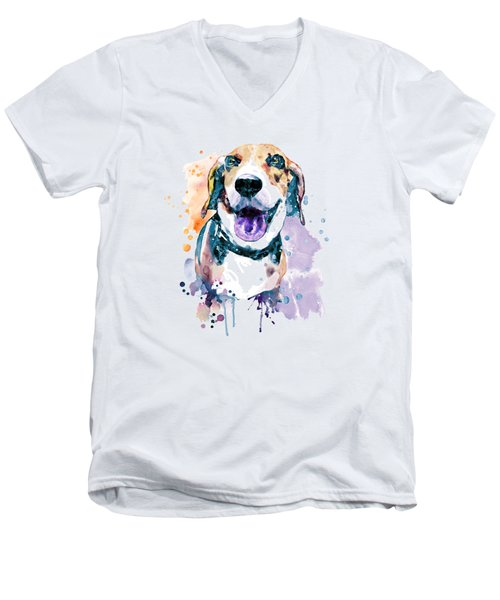 Sweet Beagle Men's V-Neck T-Shirt