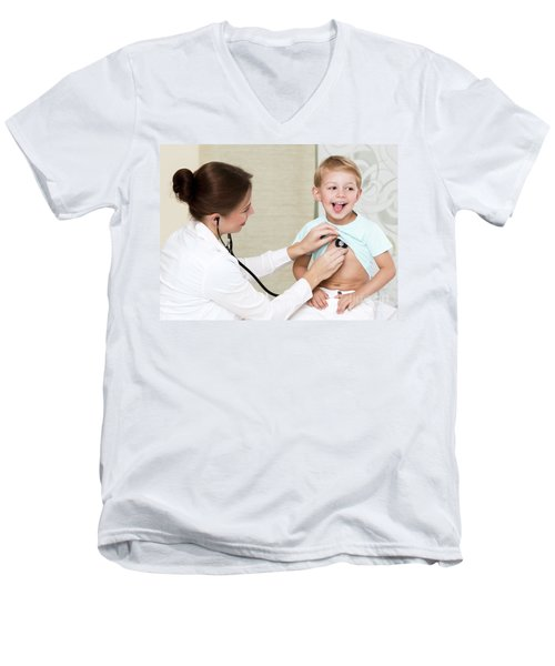 Sweet Child Visiting Doctor Men's V-Neck T-Shirt
