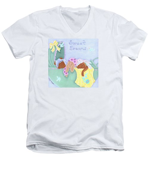 Sweet Dreams Men's V-Neck T-Shirt by Tracy Campbell