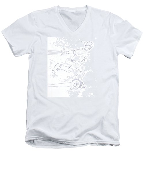 Swegway Hoverboard Fun Cartoon Men's V-Neck T-Shirt