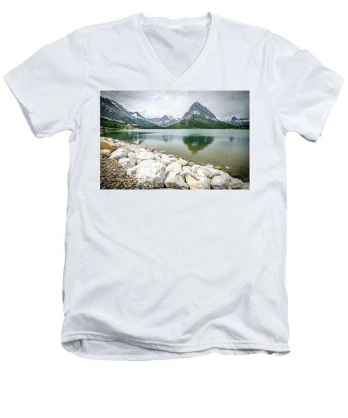 Swiftcurrent Lake Men's V-Neck T-Shirt