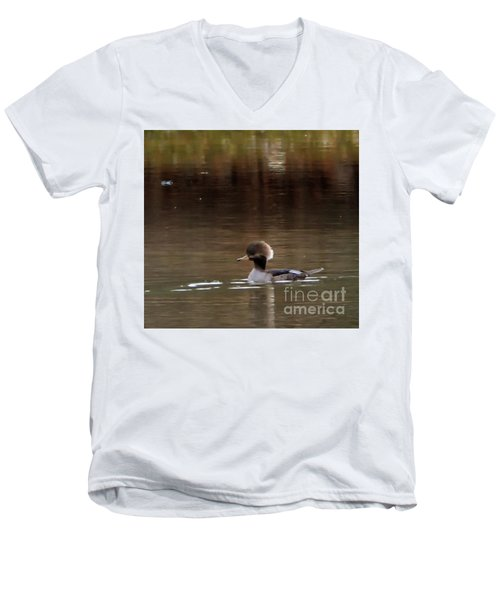 Swimming Alone Men's V-Neck T-Shirt by Tamera James