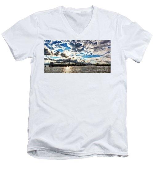 Swing Bridge Drama Men's V-Neck T-Shirt