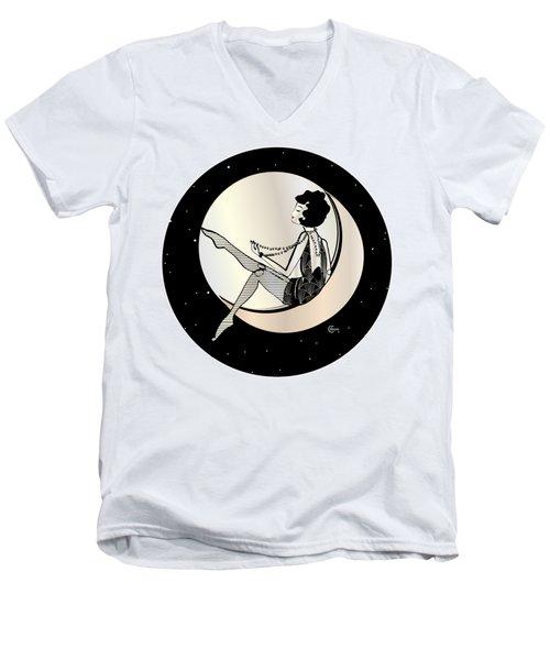 Swinging On The Moon Men's V-Neck T-Shirt