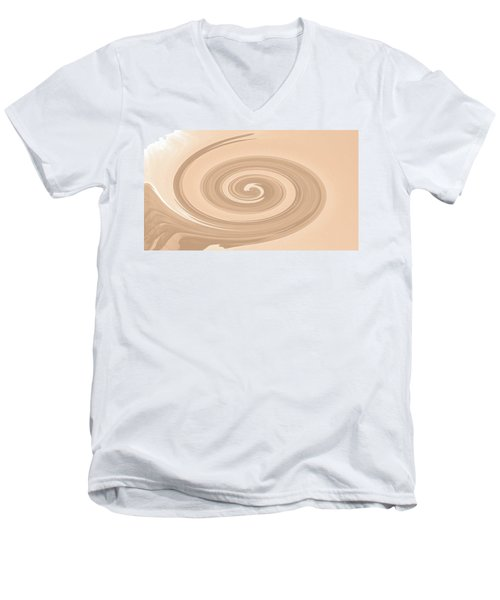 Swirled No. 82-1 Men's V-Neck T-Shirt by Sandy Taylor