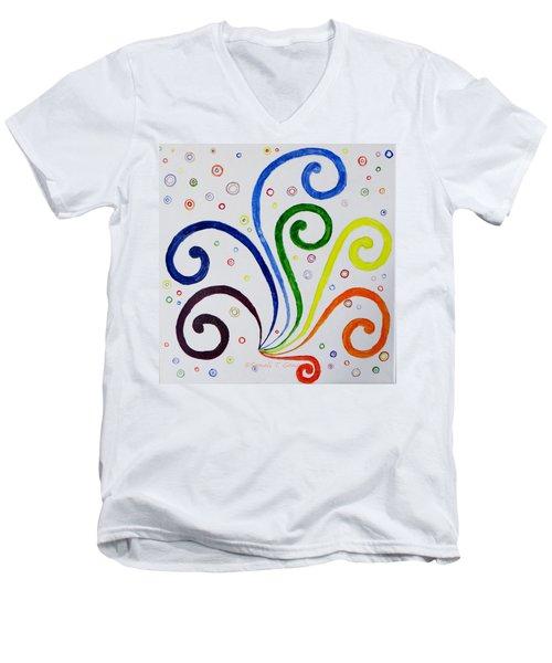 Swirls Men's V-Neck T-Shirt by Sonali Gangane