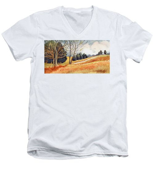 Switchboard Rd Men's V-Neck T-Shirt by Katherine Miller