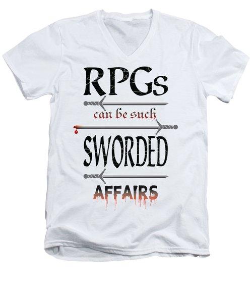 Sworded Affairs Light Men's V-Neck T-Shirt