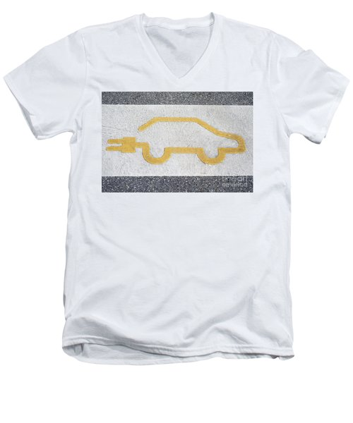 Symbol For Electric Car Men's V-Neck T-Shirt