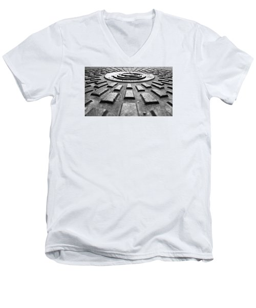 Symmetrical Men's V-Neck T-Shirt