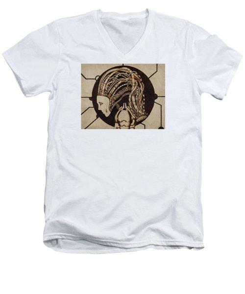 Synth Men's V-Neck T-Shirt by Jeff DOttavio