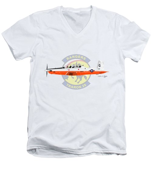 T-6b Texan II Vt28 Men's V-Neck T-Shirt by Arthur Eggers
