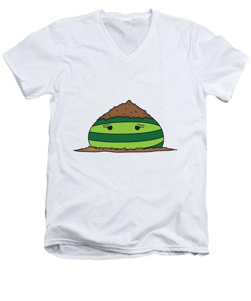 T H E . E L E M E L O N S ______________ E A R T H M E L O N Men's V-Neck T-Shirt