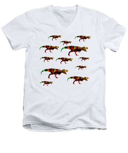 T-rex Pack Men's V-Neck T-Shirt