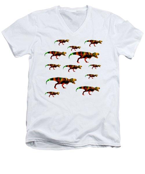 T-rex Pack Men's V-Neck T-Shirt