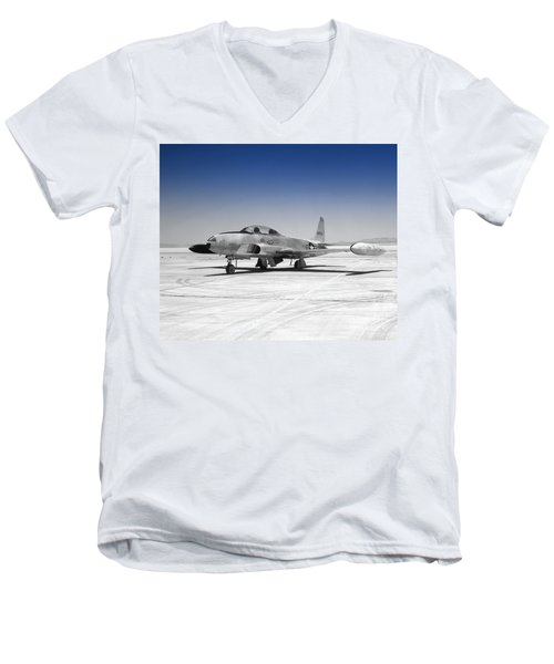 T33 A Jet Men's V-Neck T-Shirt by Greg Moores