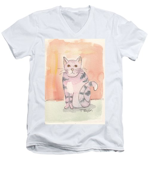 Tabby Men's V-Neck T-Shirt by Terry Taylor