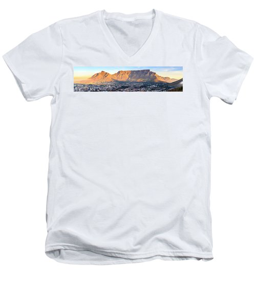 Men's V-Neck T-Shirt featuring the photograph Table Mountain by Alexey Stiop
