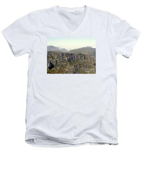 Table Rock View Men's V-Neck T-Shirt by John Potts