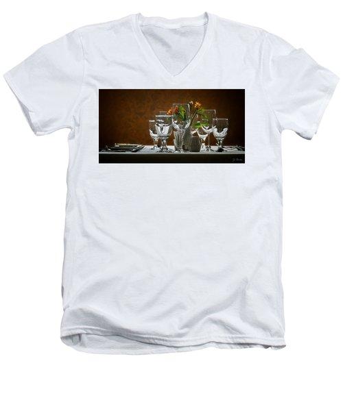 Men's V-Neck T-Shirt featuring the photograph Table Setting by Joe Bonita