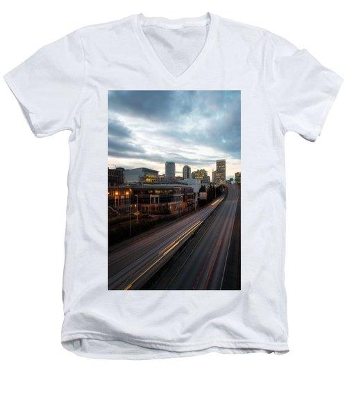 Tacoma Exit Here Men's V-Neck T-Shirt