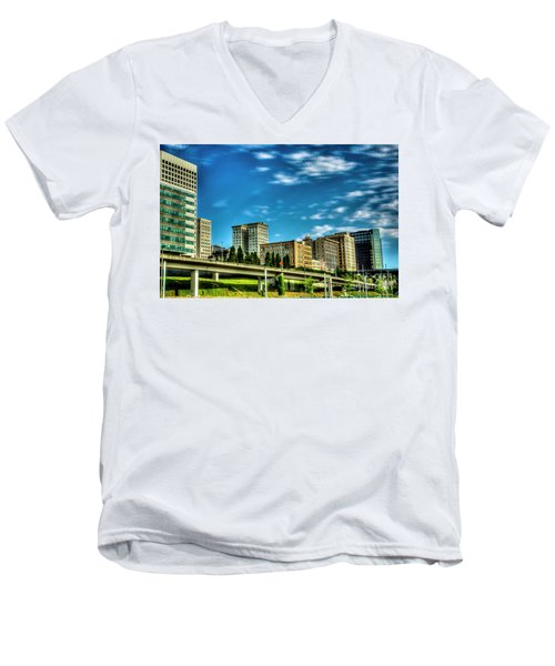 Tacoma,washington.hdr Men's V-Neck T-Shirt