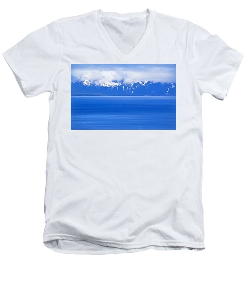 Tahoe Blue Men's V-Neck T-Shirt