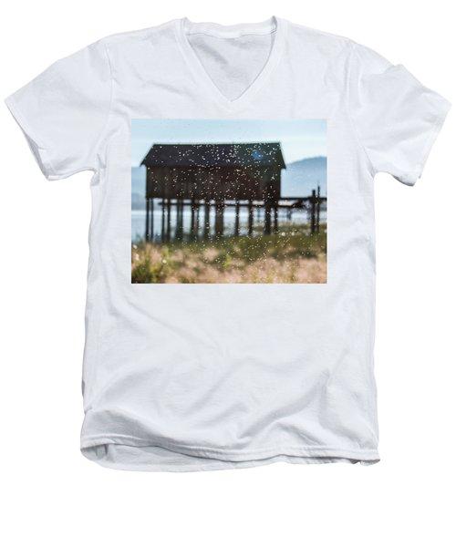 Tahoe Boat House Flies Men's V-Neck T-Shirt