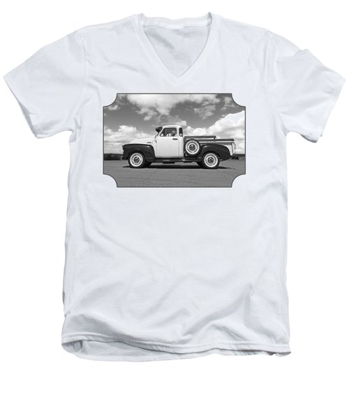 Take Me With You - Black And White Men's V-Neck T-Shirt