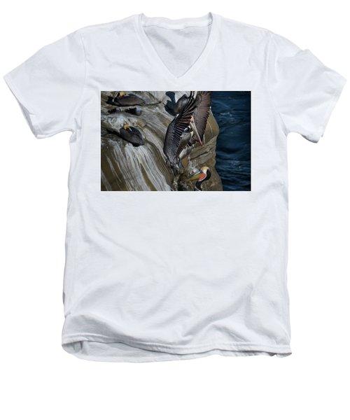 Takeoff Men's V-Neck T-Shirt by James David Phenicie