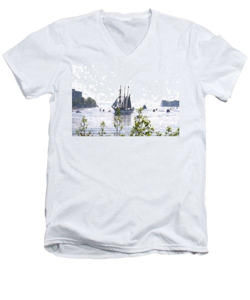 Tall Ship Tswc Men's V-Neck T-Shirt by Jim Brage