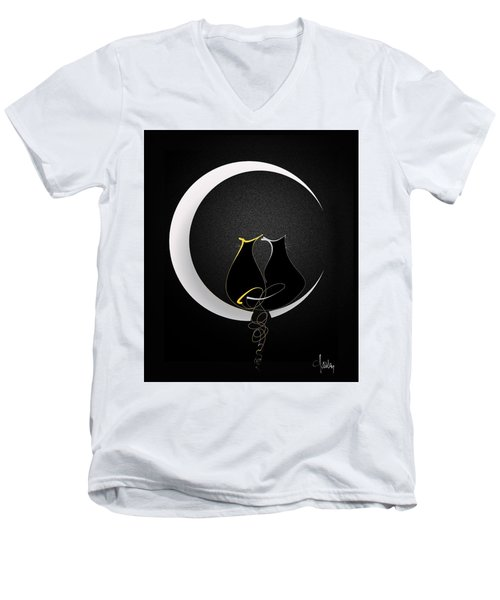 Talleycats - Moonglow Men's V-Neck T-Shirt