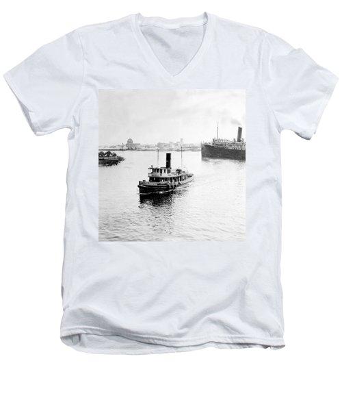 Tampa Florida - Harbor - C 1926 Men's V-Neck T-Shirt