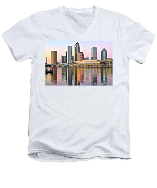 Tampa In Vivid Color Men's V-Neck T-Shirt