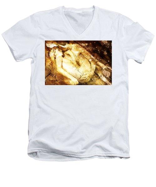 Tangle Of Naked Bodies Men's V-Neck T-Shirt