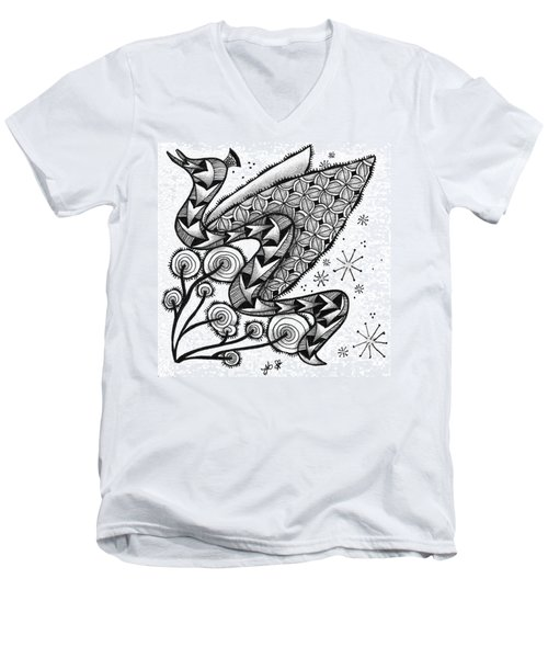 Tangled Serpent Men's V-Neck T-Shirt by Jan Steinle