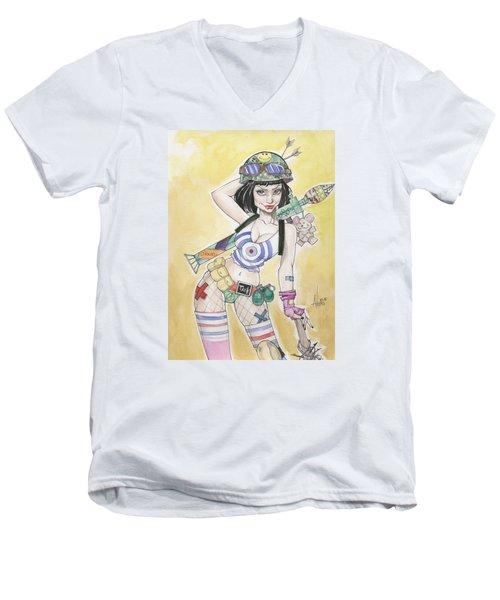 Tank Girl Men's V-Neck T-Shirt by Jimmy Adams