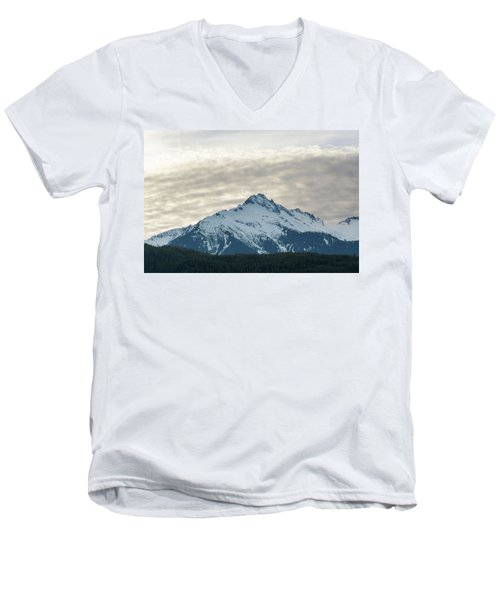 Tantalus Mountain Range Closeup Men's V-Neck T-Shirt