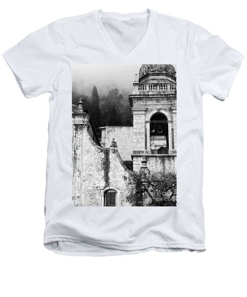 Taormina Church Detail Men's V-Neck T-Shirt by Silvia Ganora