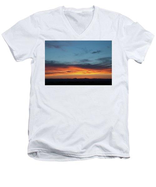 Taos Mesa Sunset Men's V-Neck T-Shirt