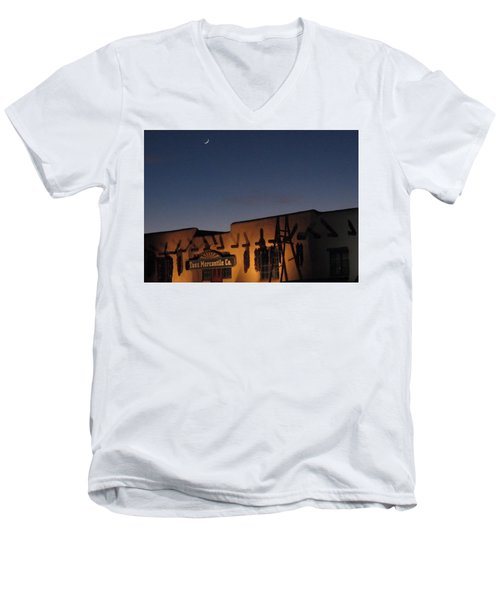 Taos Plaza Men's V-Neck T-Shirt