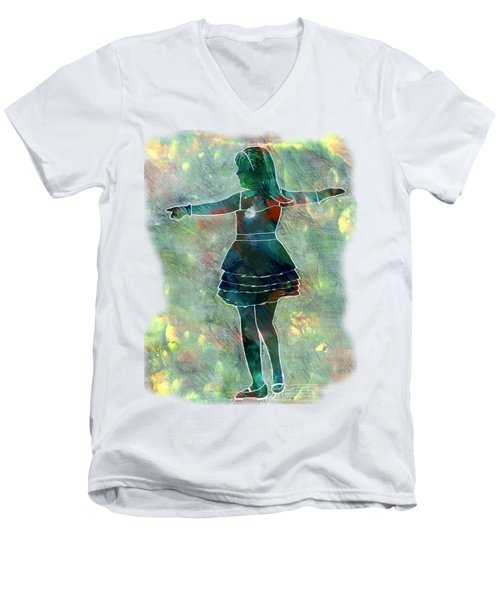 Tap Dancer 2 - Green Men's V-Neck T-Shirt