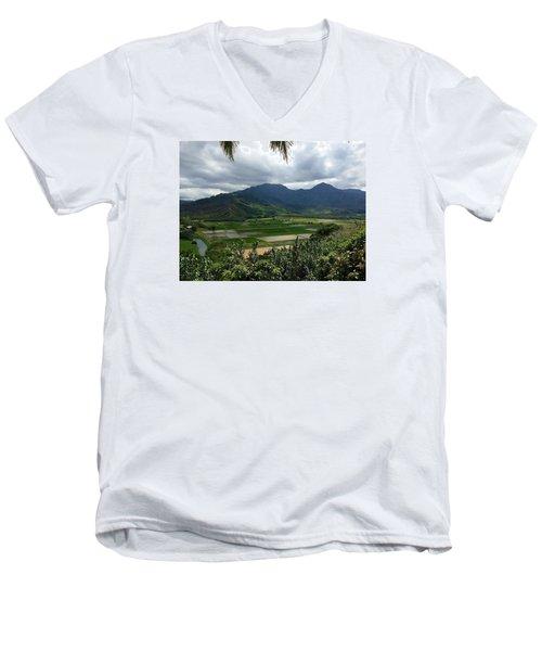 Taro Fields On Kauai Men's V-Neck T-Shirt by Brenda Pressnall